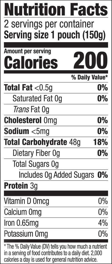Pad Thai Express Rice Noodles Nutrition Facts