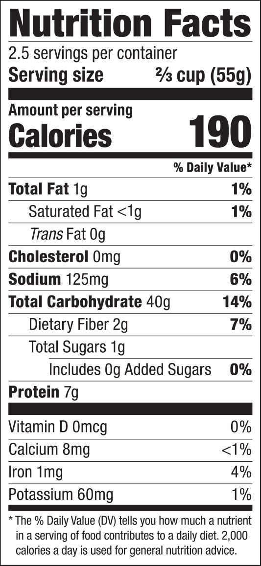 Japanese Curly Noodles Nutrition Facts