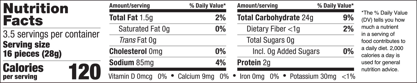 Cheese Rice Crackers Nutrition Facts